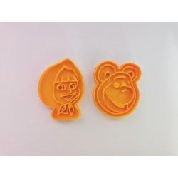 Máša a medvěd - sada 2 kusy