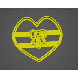 Srdce s mašlí