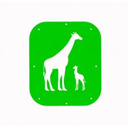 Žirafa a mládě - šablona č.1