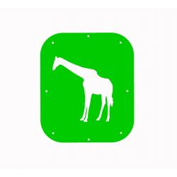 Žirafa - šablona č.1