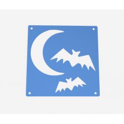 Šablona měsíc a netopýři