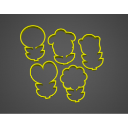 Květiny - sada 5 kusů