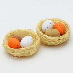 Vajíčka v hnízdě sada 2 kusy
